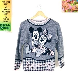 Vintage 90s Mickey Mouse sweater fairy kei Minnie